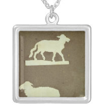 Sheep and Sheep with Lamb Silver Plated Necklace