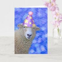 Sheep And Stars Birthday Card