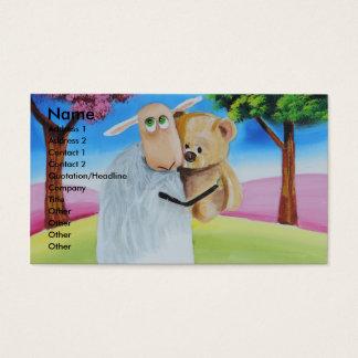 Sheep and teddy bear by Gordon Bruce Business Card