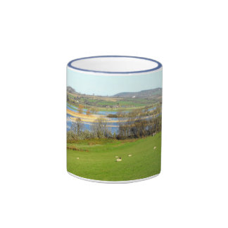 Sheep and the flooded River Axe Ringer Coffee Mug
