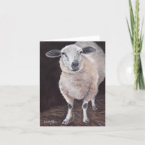 Sheep Animal Art Note Card