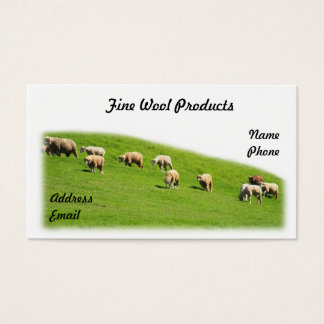 Sheep are Grazing on a Lush Pasture Business Card