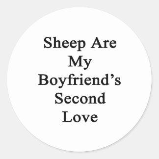 Sheep Are My Boyfriend's Second Love Round Stickers