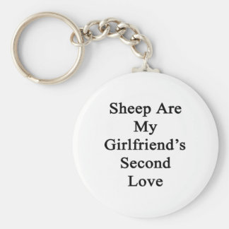 Sheep Are My Girlfriend's Second Love Keychain