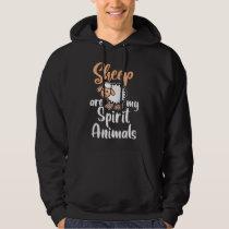 Sheep Are My Spirit Animals Hoodie