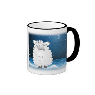 Sheep at night ringer mug
