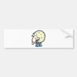 Sheep. Baaah (cough ). Bumper Sticker