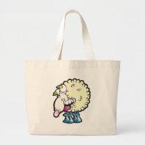 Sheep. Baaah (cough ). Large Tote Bag