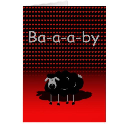 Sheep, Baby I Love Ewe Funny Card