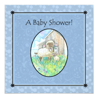 Sheep Baby Shower Invitations by Molly Harrison