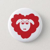 Sheep badge pinback button