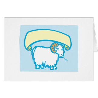 Sheep Banner Card