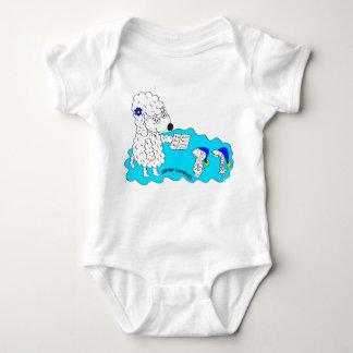 Sheep Bedtime Stories-Infant Creeper, White Baby Bodysuit