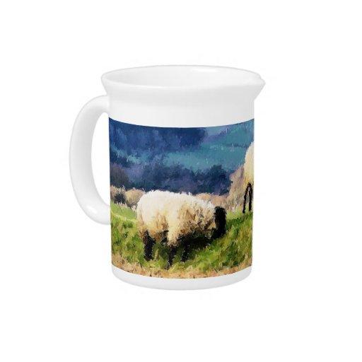SHEEP BEVERAGE PITCHER