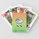 Sheep Bicycle Playing Cards