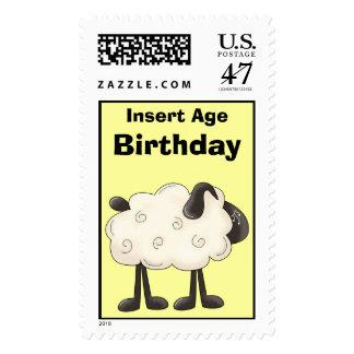 Sheep Birthday Postage Stamps