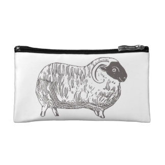 Sheep Black and White Cosmetic Accessory Bag