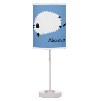 Sheep blue table lamp