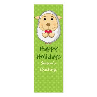 Sheep Bookmark Card Green