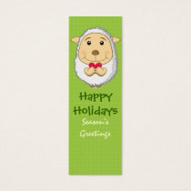 Sheep Bookmark Card Green