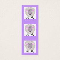 Sheep Bookmark Mini Business Card