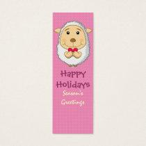 Sheep Bookmark Pink