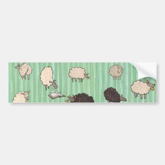 Sheep Car Bumper Sticker
