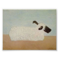 Sheep (by Milton Avery) Poster