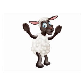 Sheep cartoon character post cards