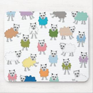 Sheep Cartoon Colorful Mouse Pad