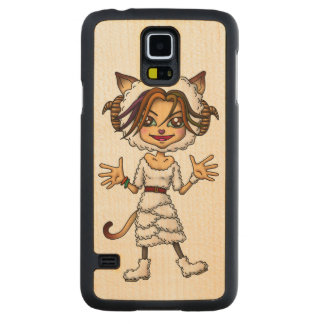Sheep cat girl carved® maple galaxy s5 case