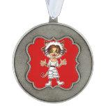 Sheep cat girl ornament