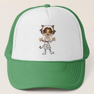Sheep cat girl trucker hat