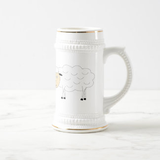 Sheep Character Beer Stein