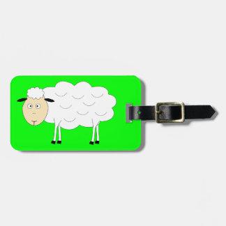 Sheep Character Luggage Tag