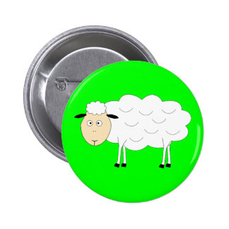Sheep Character Round Button
