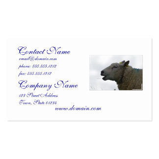 Sheep Chomping on Hay Business Card Templates