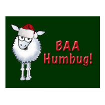 Sheep Christmas BAA Humbug!, BAA Humbug Postcard