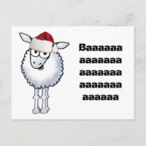 Sheep Christmas BAA Humbug!, Baaaaaaaaaaaaaaaaa... Holiday Postcard