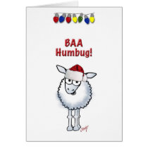 Sheep Christmas BAA Humbug Card