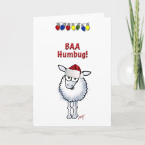 Sheep Christmas BAA Humbug Holiday Card
