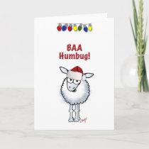 Sheep Christmas BAA Humbug Holiday Card