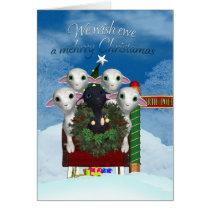 Sheep Christmas Card - Black Sheep Holiday Card