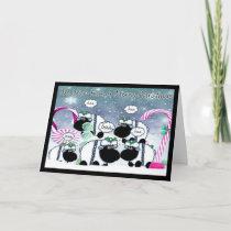Sheep Christmas Card - We Wish Ewe A Merry Christm