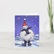 Sheep Christmas Holiday Card