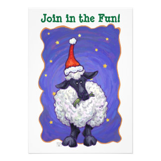 Sheep Christmas Personalized Invitations
