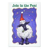 Sheep Christmas Invitation