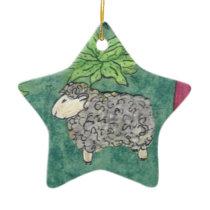 Sheep Christmas: star ornament