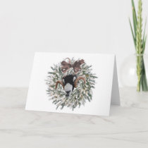 Sheep Christmas Wreath~Greeting Card