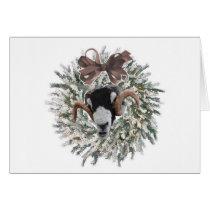 Sheep Christmas Wreath~Greeting Card
